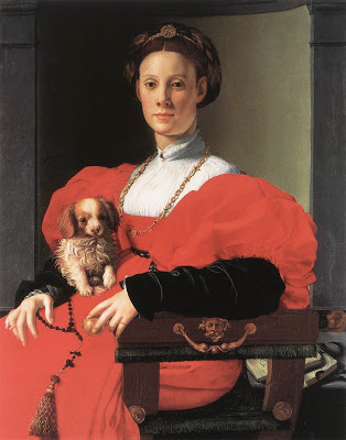 Agnolo BronzinoPortrait of a Lady with a Puppy 1532