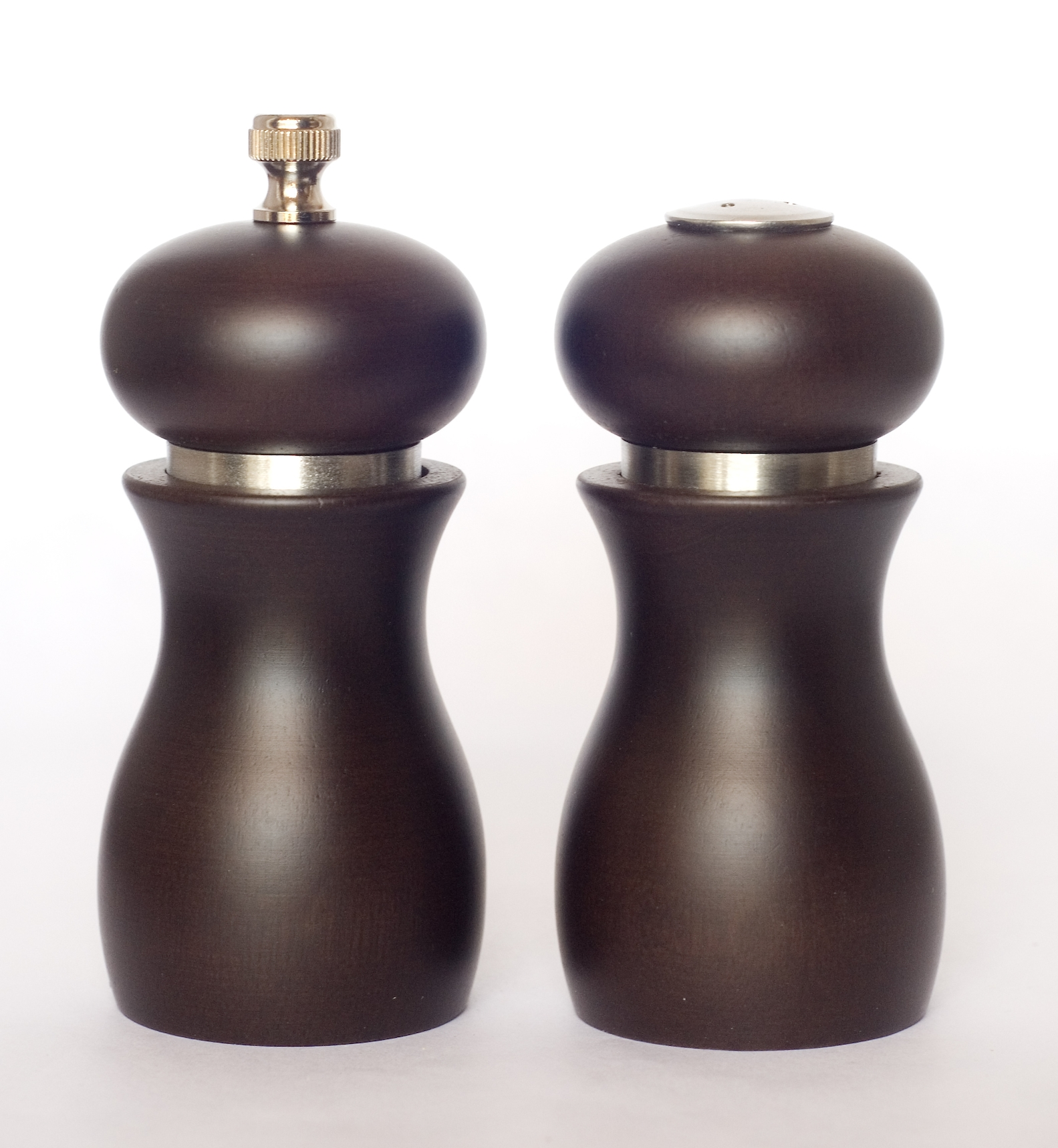Capri Dark Brown pepper mill and salt shaker set